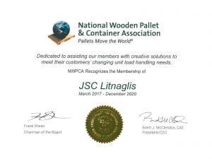 NWPCA certificate
